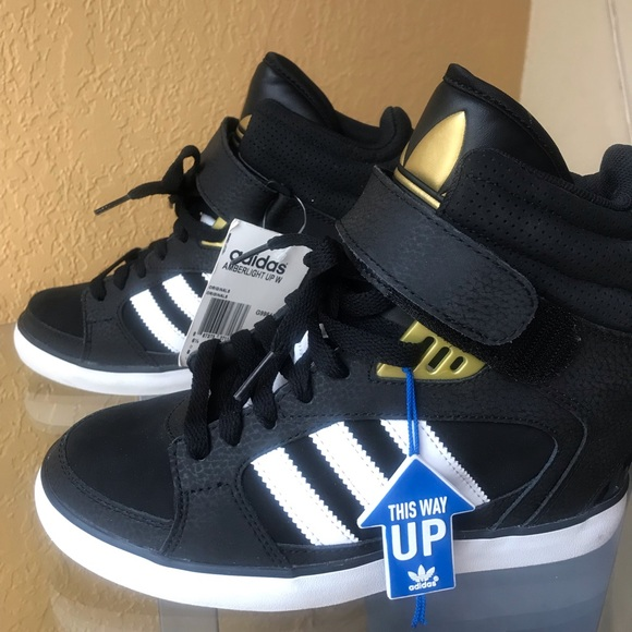 2adidas amberlight up rose wedge sneakers